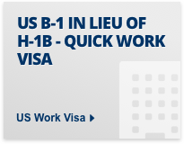 US B-1 in leieu of H-1b quick work visa