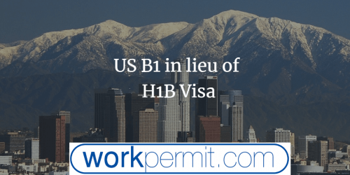 US B1 in lieu of H1B Visa