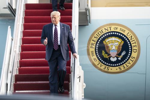 Donald Trump at Philadelphia International Airport 15 September 2020