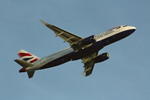 Take off at London Heathrow Airport