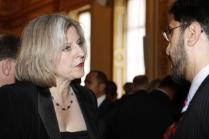 Prime Minister Theresa May former Home Secretary at the reception for the Diplomatic Corps