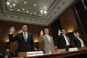 US CBP Commissioner Mark Morgan and USCIS Acting Director Ken Cuccinelli testifying at Senate Committee 13 November 2019