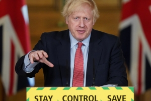 Boris Johnson holds the daily Covid-19 Press Conference on 28 May 2020.