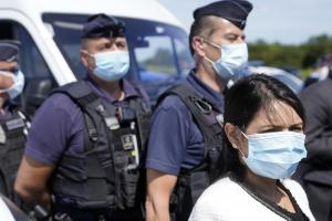 Priti Patel visits former migrant camp in Calais 12 July 2020