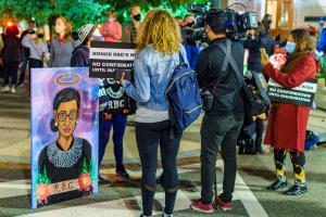 Vigil for Ruth Bader Ginsburg, Washington, DC USA 19 September 2020