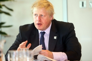 Boris Johnson chairing meeting