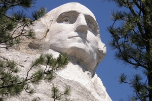 Washington at Mt. Rushmore, USA