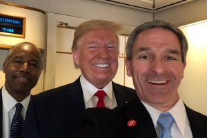 Ken Cuccinelli acting director of USCIS with Trump and Carson