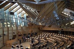 Scottish Parliament Chamber, Scotland, UK