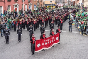Members Of the Pride Of Owasso Took Part In The St. Patrick's Day Parade in Dublin Today