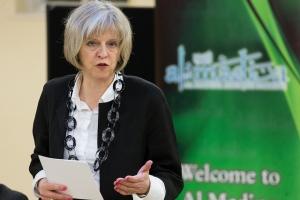 Theresa May visits Al Madina Mosque