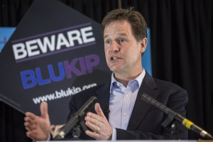 Nick Clegg launches BLUKIP poster