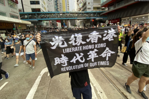On July 1st, the first day of the implementation of the National Security Law, tens of thousands of Hong Kong people marched.