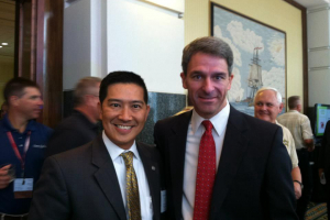 Tony Pham (left) Acting Director of ICE with Ken Cuccinelli Acting Director of USCIS