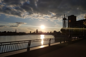 Recent Docklands and City of London scene during coronavirus