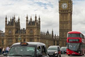 Big Ben, Bus et taxi - London - England