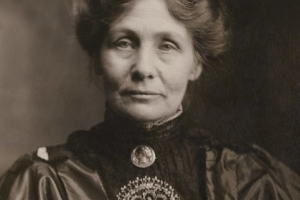 Emmeline Pankhurst, c.1910, suffragette helped women gain the vote