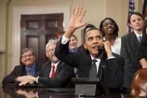 President Obama Calls International Space Station