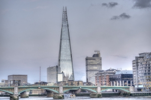 The shard in the evening light, London, UK