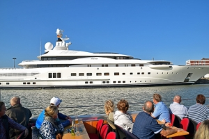 Pelorus Yacht owned by Roman Abramovich at Bremerhaven