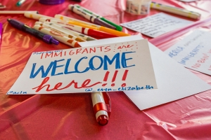 Immigrants Are Welcome Here Sign