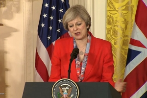 Theresa May in Livestream-Joint-Press-Conference with Donald Trump. January 27, 2017 ... 20:18:17 (MEZ)