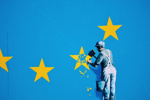 Banksy Brexit Mural Dover, Kent, UK 20 May 2017