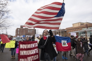 Marching in support of immigrants