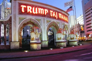 Failed Trump Taj Mahal (named after Taj Mahal built by muslim ruler of India), Atlantic City, New Jersey, United States