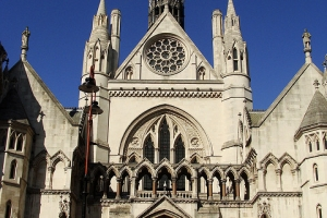 Entrance to the Royal Courts of Justice, The Strand, London