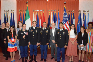 Soldiers and spouses from the Vicenza Military Community in Italy became naturalized American citizens 10 July 2019