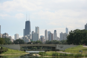 Chicago Skyline from the Nature Boardwalk
