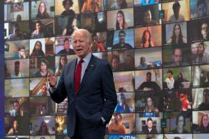 All staff Zoom call with Joe Biden 13 August 2020
