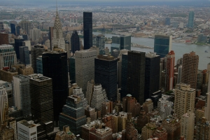 The bird's-eye view of NYC from Empire State Building