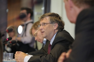 Bill Gates founder of Microsoft, Addressing Health Ministers at Meeting on Polio Organized by the Gates Foundation