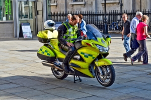 NHS Ambulance Bike - National Health Service is a big user of Tier 2 Visas