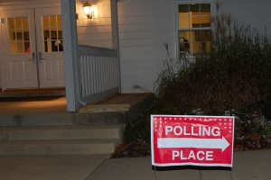 Burke Centre Polling Place Preps for Election Day
