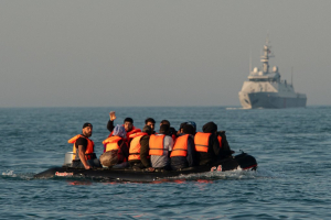 Migrants crossing the English Channel, September 2020