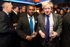 Ajit Chambers and Boris Johnson