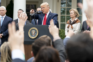 President Trump Holds a News Conference on the Coronavirus 13 March 2020