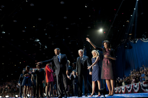 Barack Obama and Joe Biden on Election Day - November 6th 2012