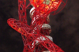 ArcelorMittal Orbit, Olympic Portal, designed by half Iraqi Jewish and half Indian British Migrant Anish Kapoor