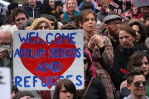 Welcome asylum seekers and refugees - Refugee Action protest 27 July 2013 Melbourne