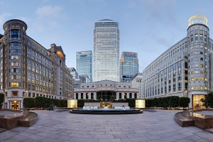 London financial district Canary Wharf