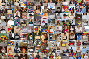 Free Tibet Wall of Resistance 1 October 2020