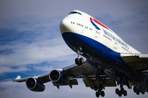 British Airways 747 on final 27L at Heathrow