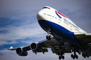 British Airways 747 on final 27L at Heathrow