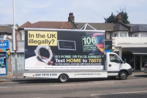 Infamous Home Office Go home or face arrest van