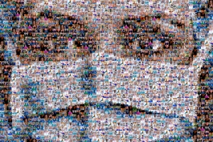 NHS workers photo collage tribute