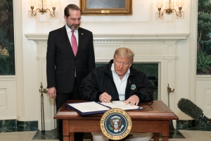 President Trump signs congressional funding bill for coronavirus